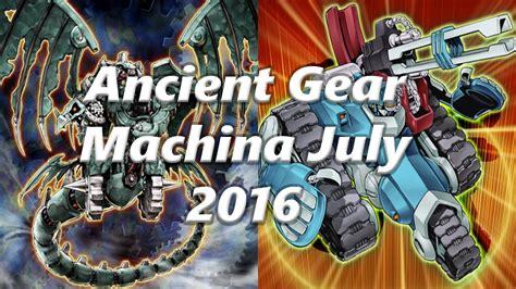 yugioh ancient gear deck 2016 yugioh ancient gear machina deck july 2016 duels deck