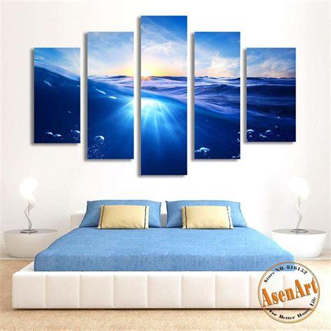 panel painting sunrise blue sea canvas painting seascape