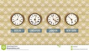 Retro Uhren Wand : retro angeredetes bild der alten uhren mit weltzeiten stock abbildung bild 30088483 ~ Whattoseeinmadrid.com Haus und Dekorationen