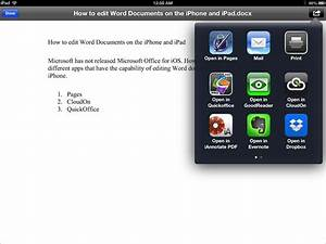 how to edit word excel and powerpoint documents on ipad With microsoft documents on ipad