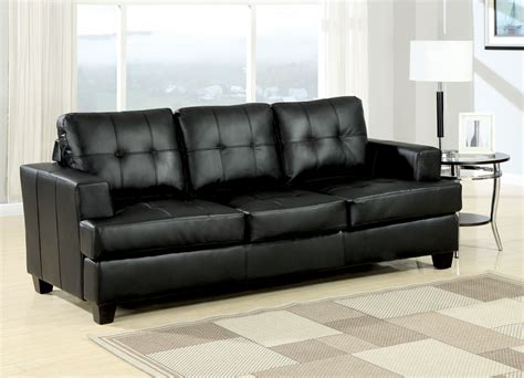 Black Leather Sofa Sleeper by Acme Bonded Leather Sofa Sleeper In Black 15061