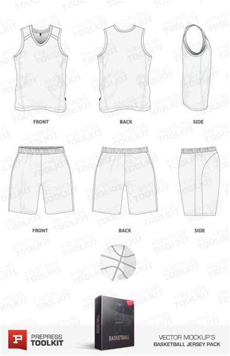 basketball uniform template mockup vector basketball