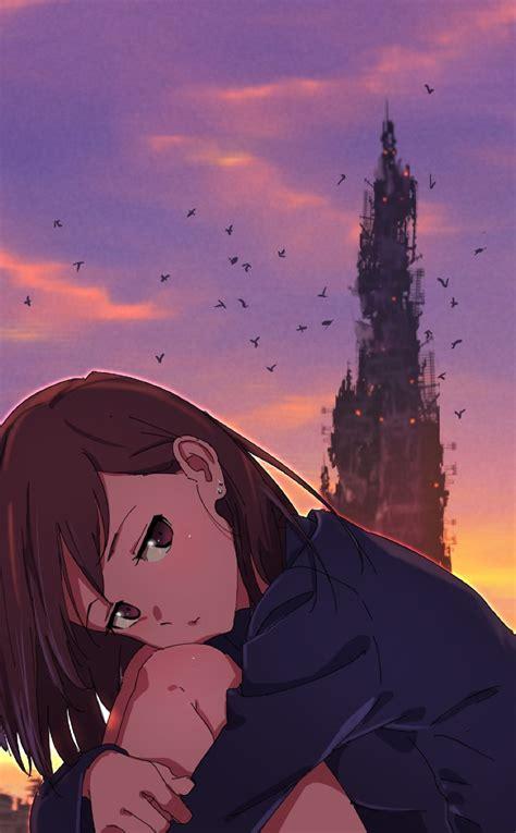 broken heart anime girl full hd wallpaper