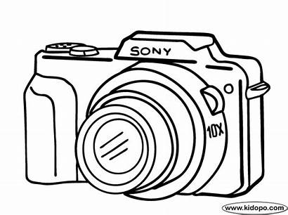 Camera Coloring Pages Drawing Cameras Digital Sony