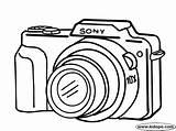 Camera Clipart Coloring Sony Drawing Electrodomesticos Colorear Dibujos Imagui Camara Pintar Dibujo Easy Drawings Clip Buscar Google Nikon Canon Lens sketch template