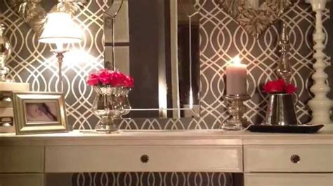 glamorous decorations a plain closet becomes an old hollywood quot glam quot dressing room youtube