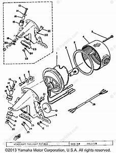 Yamaha Motorcycle 1973 Oem Parts Diagram For Tail Lamp