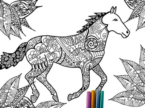 Items Similar To Horse Coloring Page On Etsy