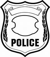 Badge Draw Coloring Hoe Police sketch template