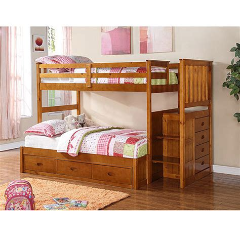 boraam twin over full bunk bed with guardrail and trundle