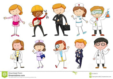 Occupations Stock Vector. Illustration Of Person, Isolated