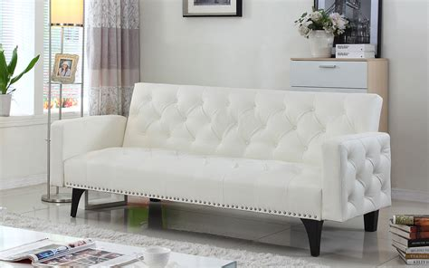 Popular 168 List White Leather Sleeper