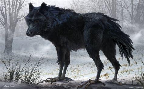 Black Wolf Art Wallpaper