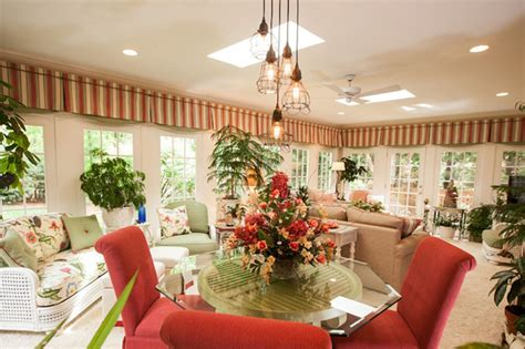 north carolina garden sunroom tropical dining room