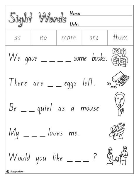 high frequency sight words list  studyladder