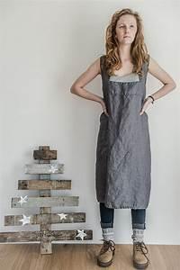 Not Perfect Linen : not perfect linen pinafore square cross linen apron dark grey room my favorites ~ Buech-reservation.com Haus und Dekorationen
