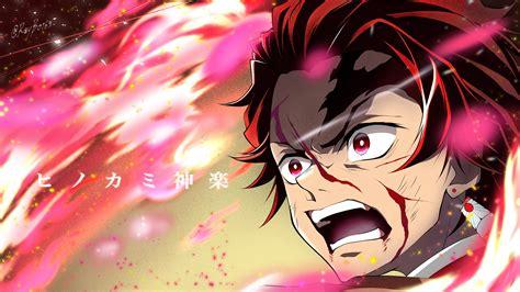 Demon Slayer Angry Tanjiro Kamado With Background Of Pink 4k 5k Hd Anime Wallpapers Hd