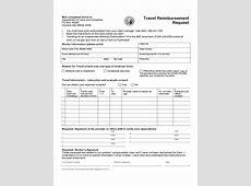 Travel Reimbursement Request Form Free Download