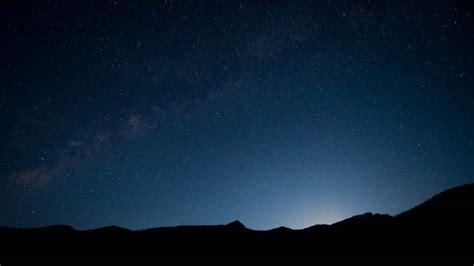 Landscape Night Sky Silhouette Milky Way Stars