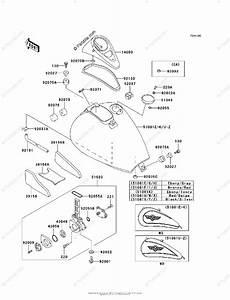 Kawasaki Motorcycle 1999 Oem Parts Diagram For Fuel Tank