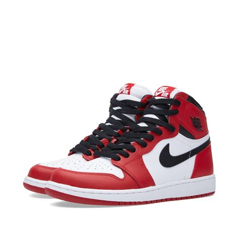 Nike Air Jordan 1 Retro High Og Bg Varsity Red White