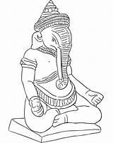 Ganesha Flintstone Coloringhome Gods Kleurplaat Funnies Rangoli Moletons Ganesh álbuns Recomendadas sketch template