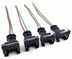 4 Rc Fuel Injector Connector Wiring Harness Plug Clips