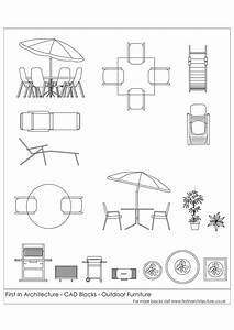 Free CAD Blocks - Outdoor Furniture First In Architecture
