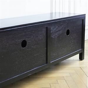 Meuble Tv Metal Noir : meuble metal noir ~ Teatrodelosmanantiales.com Idées de Décoration