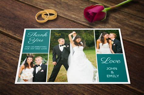 wedding thank you card photoshop template wedding thank you postcards template card templates