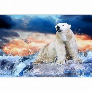 Papier Peint Geant : papier peint g ant d co ours polaire 250x360cm art d co ~ Premium-room.com Idées de Décoration