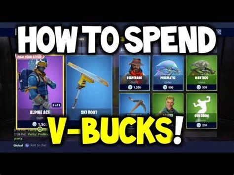 fortnite   spend  bucks guide  skin