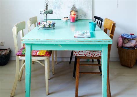 chaise de bureau verte 5 idées pour repeindre une table joli place