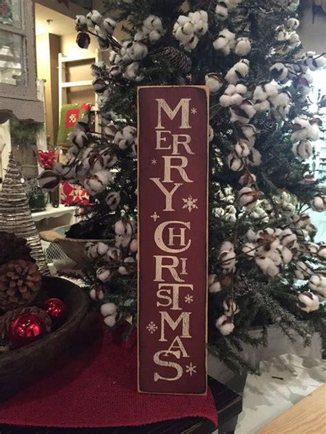 vintage merry christmas vertical wood sign homemydesign