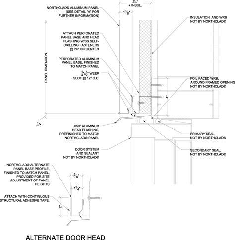 vertical stacking details  insulation northclad