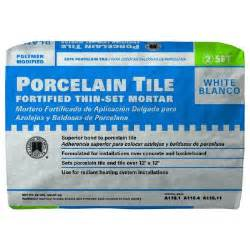 custom building products porcelain tile white 50 lb