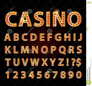 Neon Light Typeface Vector Orange Neon Lamp Letters Font Show Cinema Or