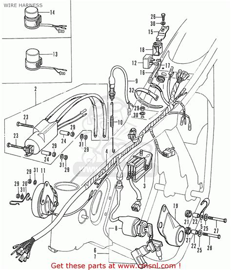 honda cd175 t4 canada wire harness schematic partsfiche