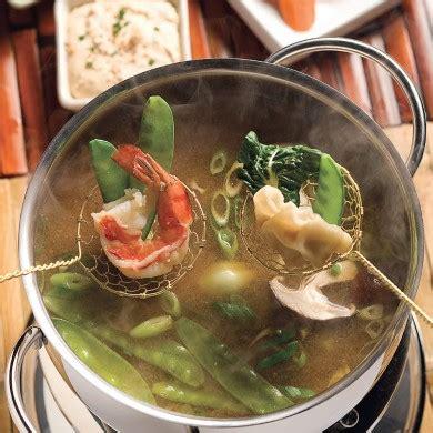 fondue à la japonaise recettes cuisine et nutrition