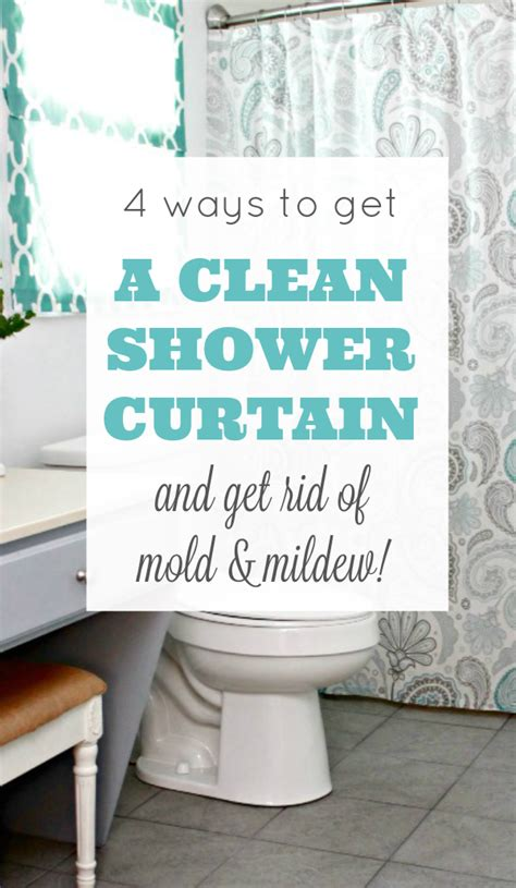 4 ways to get a clean shower curtain 4 real