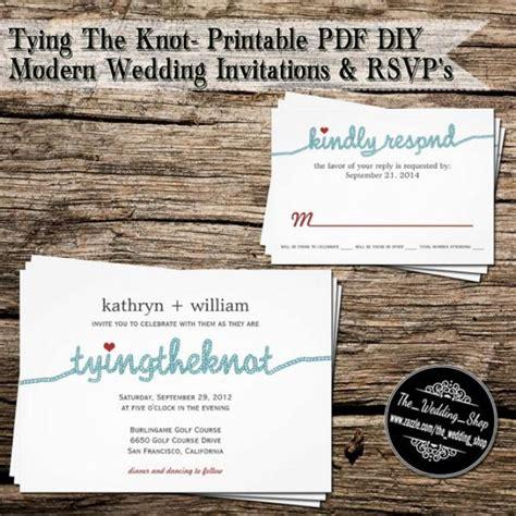 tying the knot printable pdf diy modern wedding