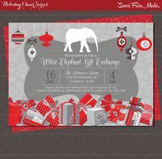 white elephant gift  ornament exchange