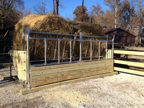 Livestock Feeder by Fence Line Bk 6 Cattle Hay Feeder Klene Pipe Structures