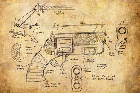 steampunk revolver  ekuneshiel  deviantart