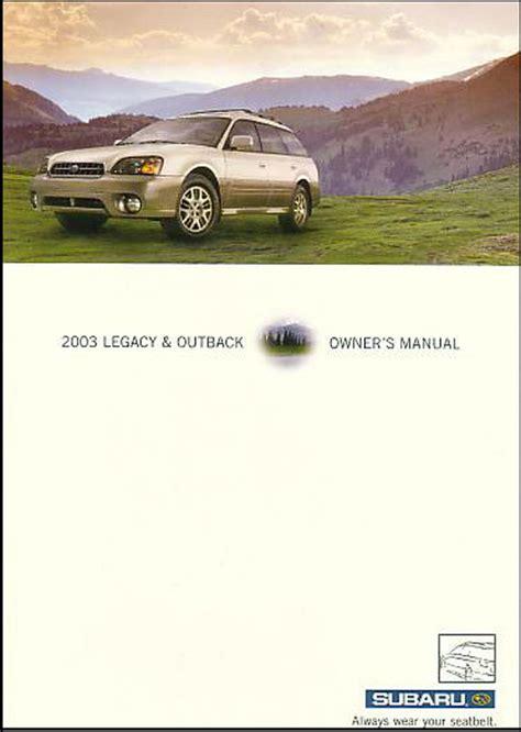 service manuals schematics 2003 subaru outback parking system subaru legacy outback 2003 owners manual book 03 gt handbook sedan wagon ebay