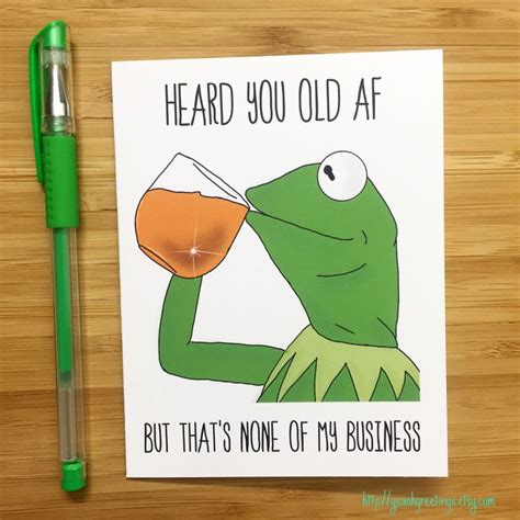 funny frog    business birthday card internet