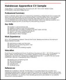 apprenticeship resume for hairdressing hairdresser apprentice cv sle myperfectcv