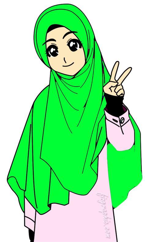 Sketsa gambar kartun romantis hitam putih. 22+ Keren Abis Gambar Animasi Muslimah Png