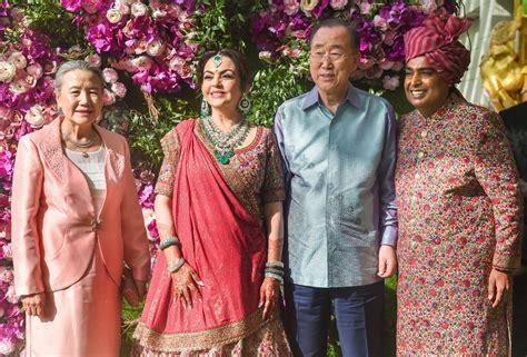 Akash Ambani Shloka Mehta Wedding Ban Ki Moon Tony Blair