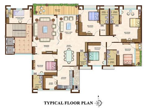 5 Bedroom Duplex House Plans by Ideal Properties 5 Bhk One Floor One Flat